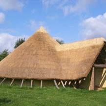 Saxon hut new-build - reed
