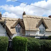 Straw re-thatch - after