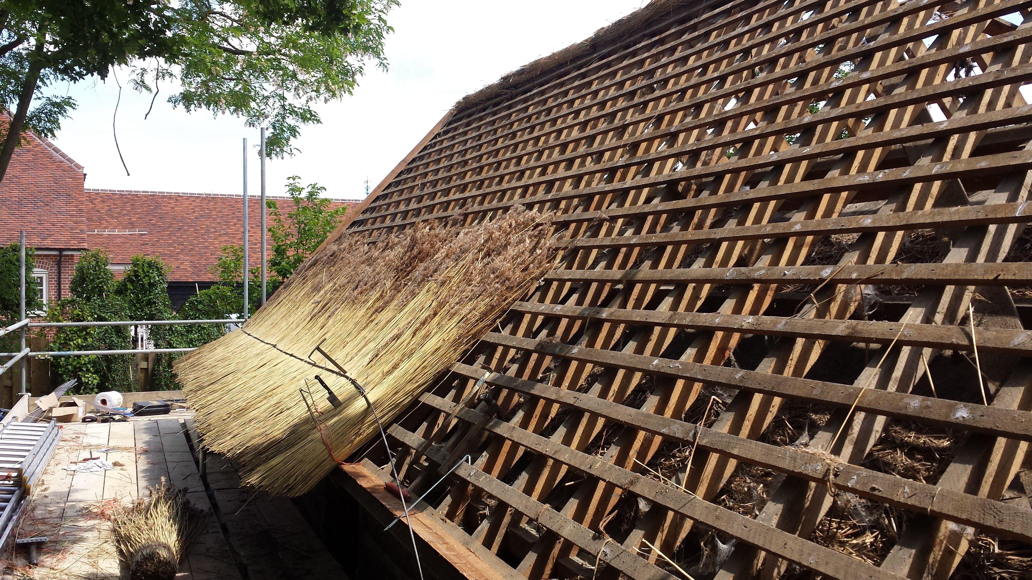 preparing a thatched roof structure d g shelley
